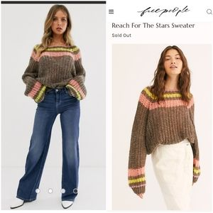 Free People Reach For The Stars Sweater